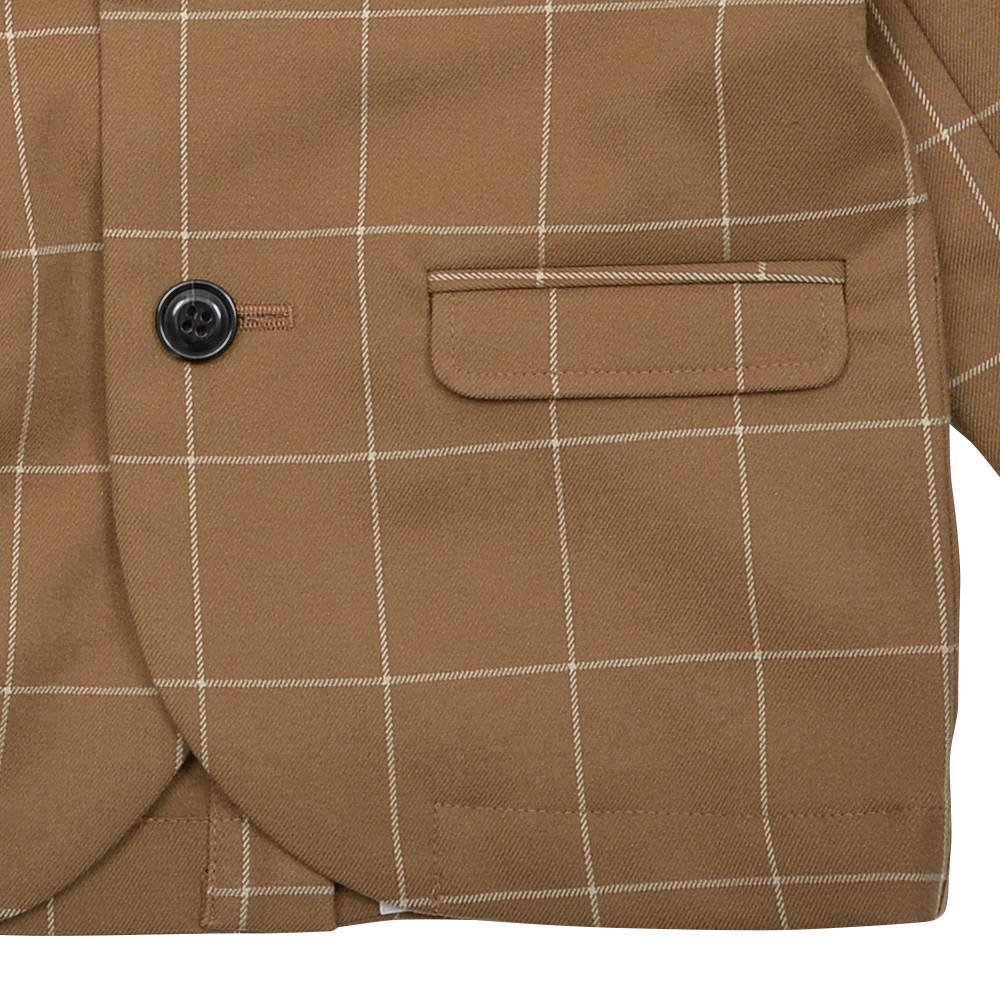 【30%OFF→40%OFF】Suit Jacket camel / white plaid img5