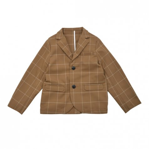 【WINTER SALE 20%OFF】Suit Jacket camel / white plaid
