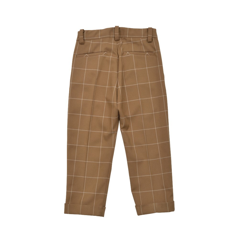 【30%OFF→40%OFF】Suit Pants camel / white plaid img1