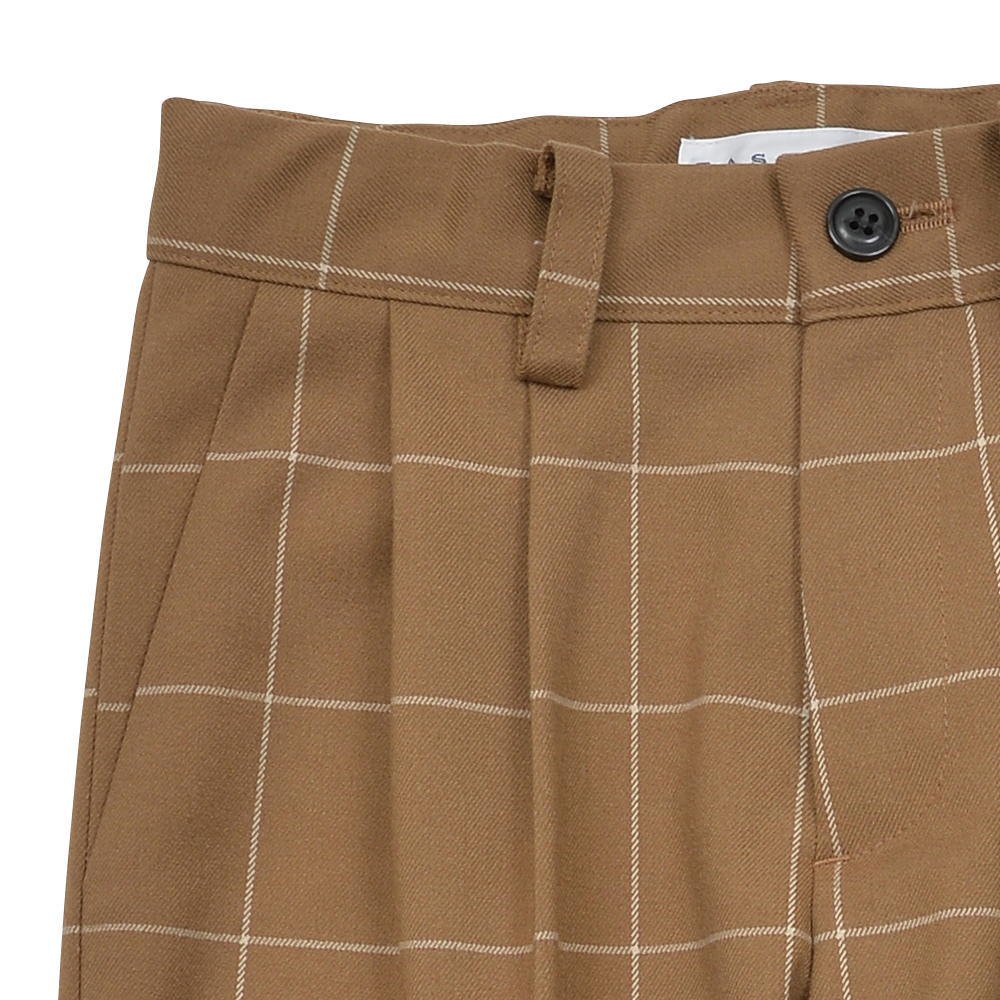 【30%OFF→40%OFF】Suit Pants camel / white plaid img2