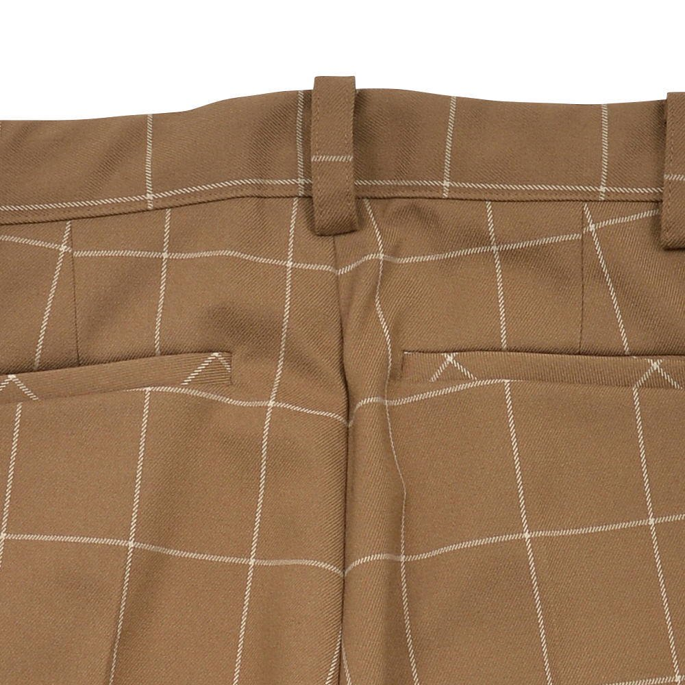 【30%OFF→40%OFF】Suit Pants camel / white plaid img4
