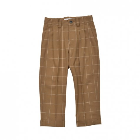【40%OFF】Suit Pants camel / white plaid