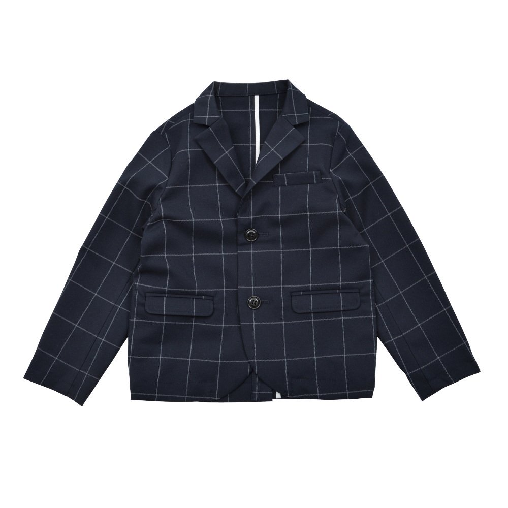 Suit Jacket navy / white plaid img