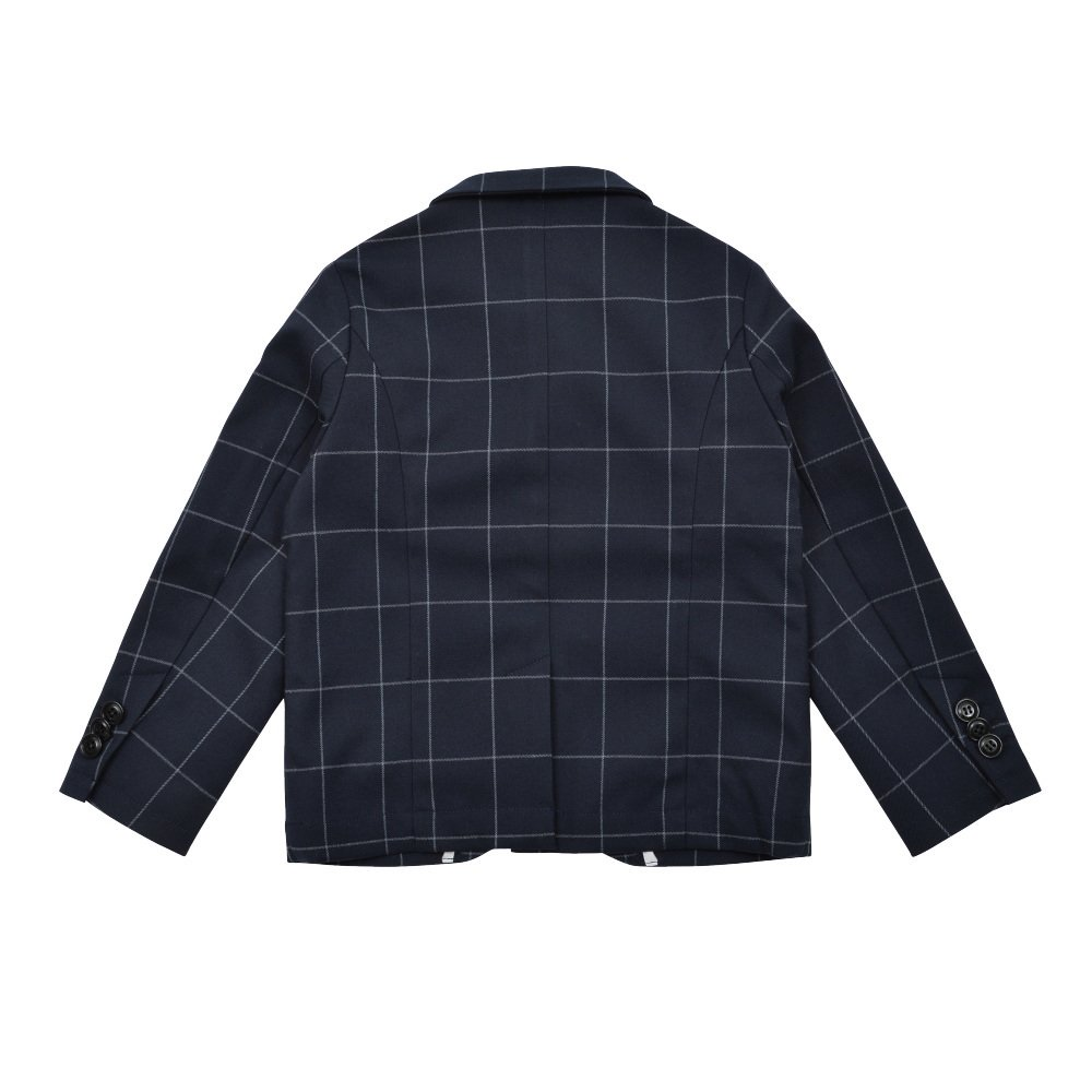 Suit Jacket navy / white plaid img1