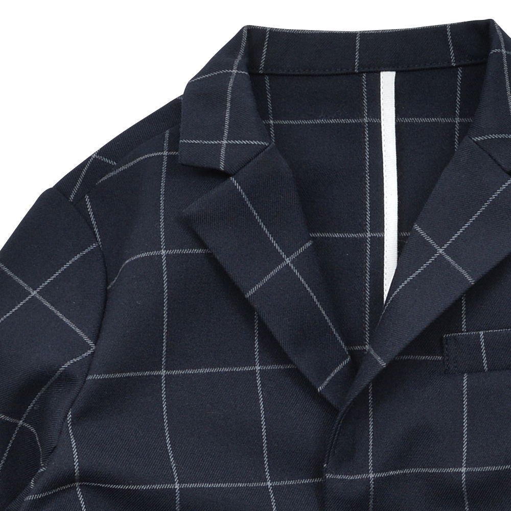 【WINTER SALE 20%OFF】Suit Jacket navy / white plaid img2