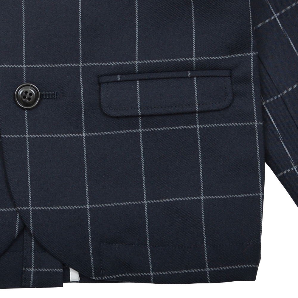 Suit Jacket navy / white plaid img5