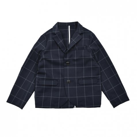 Suit Jacket navy / white plaid