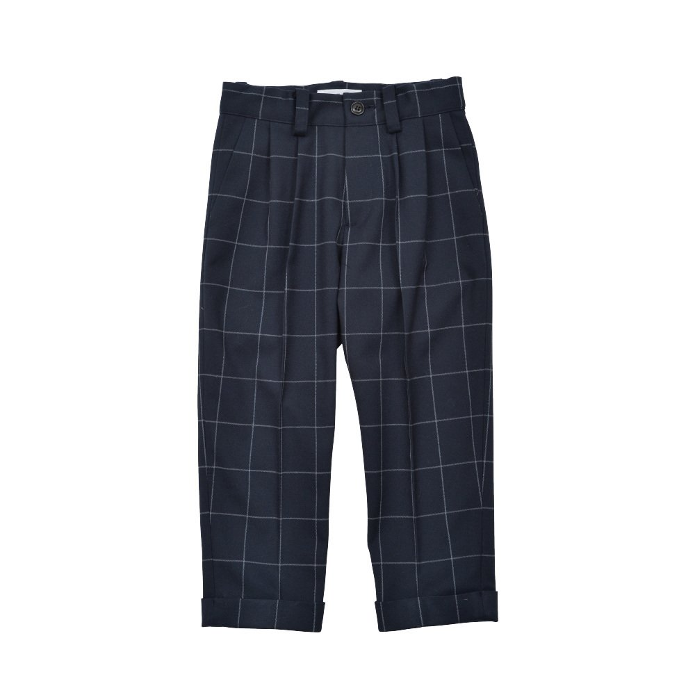Suit Pants navy / white plaid img