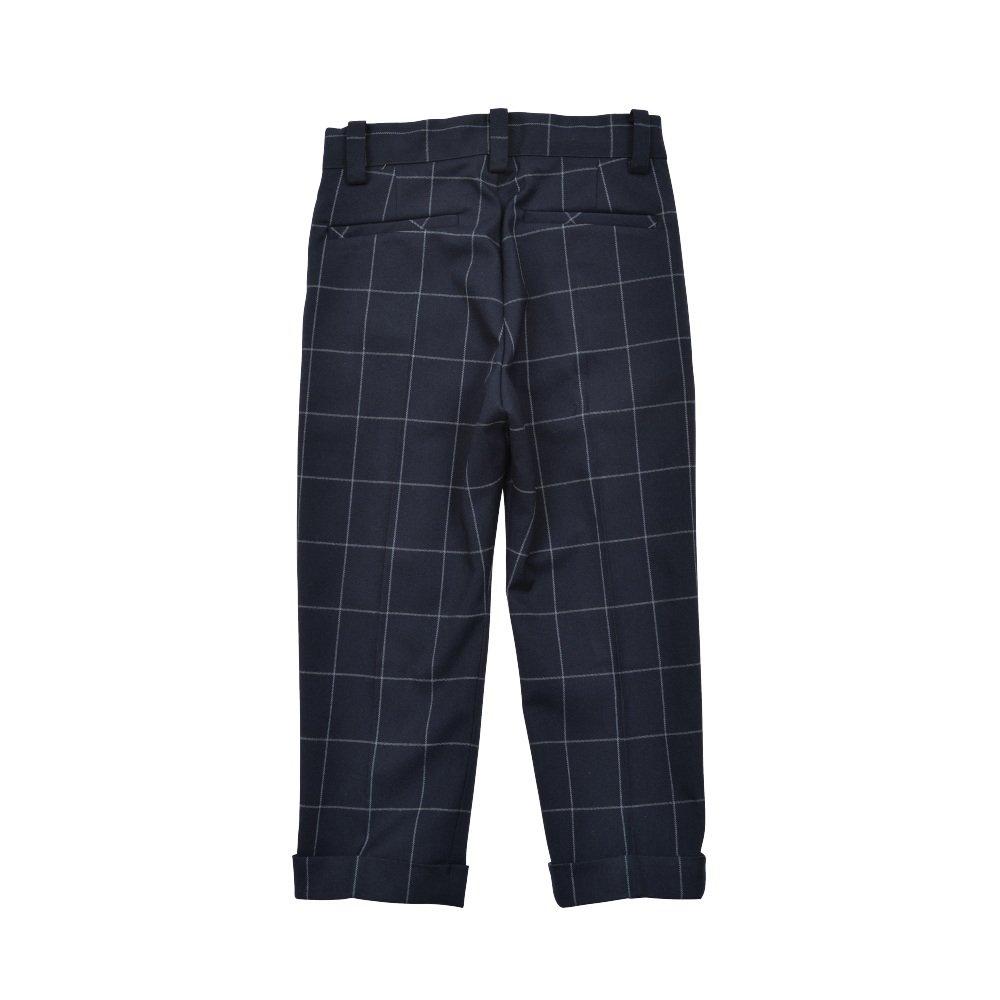 【WINTER SALE 20%OFF】Suit Pants navy / white plaid img1