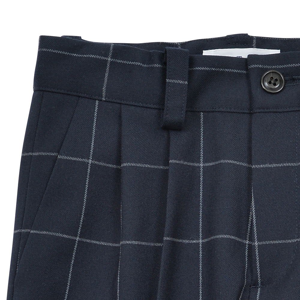 Suit Pants navy / white plaid img2