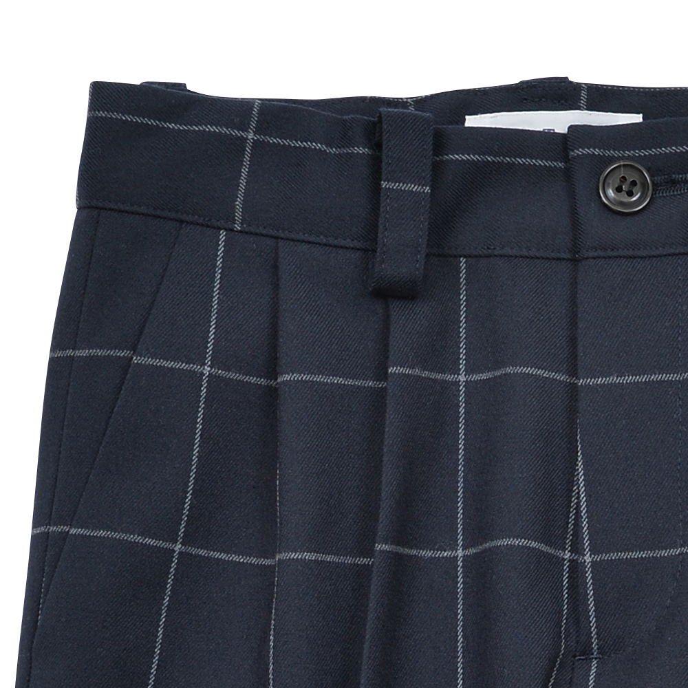 【WINTER SALE 20%OFF】Suit Pants navy / white plaid img2