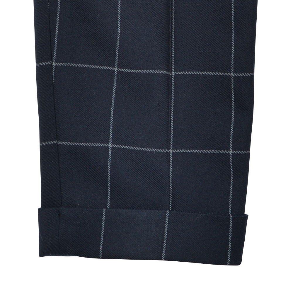 【WINTER SALE 20%OFF】Suit Pants navy / white plaid img3