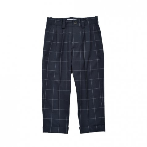 Suit Pants navy / white plaid