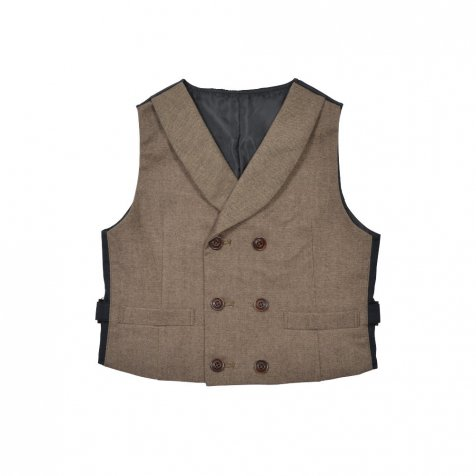 Double-Breasted Vest brown