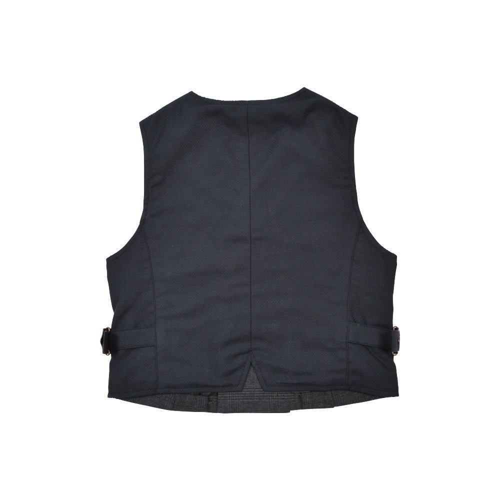 Double-Breasted Vest black / grey plaid img1