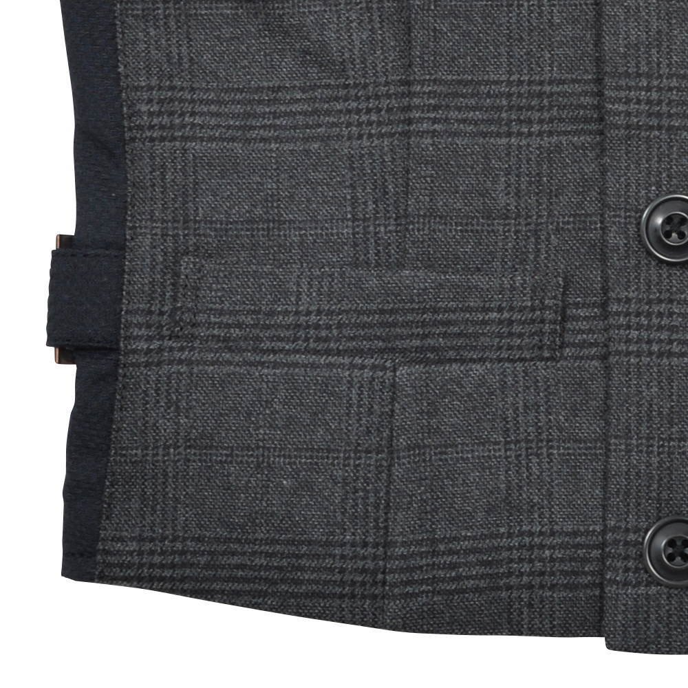 Double-Breasted Vest black / grey plaid img4