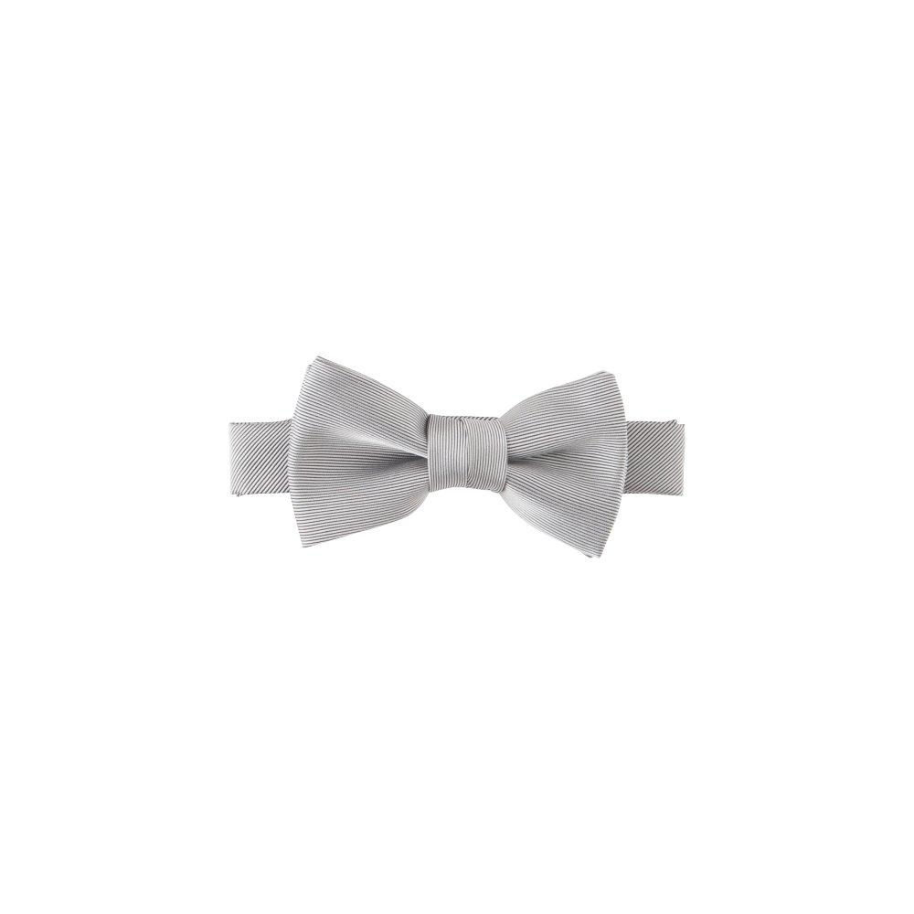 Plain Bow Tie silver grey img