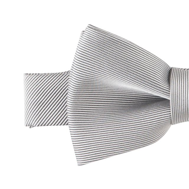 Plain Bow Tie silver grey img1