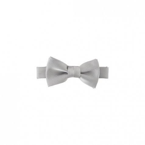 Plain Bow Tie silver grey