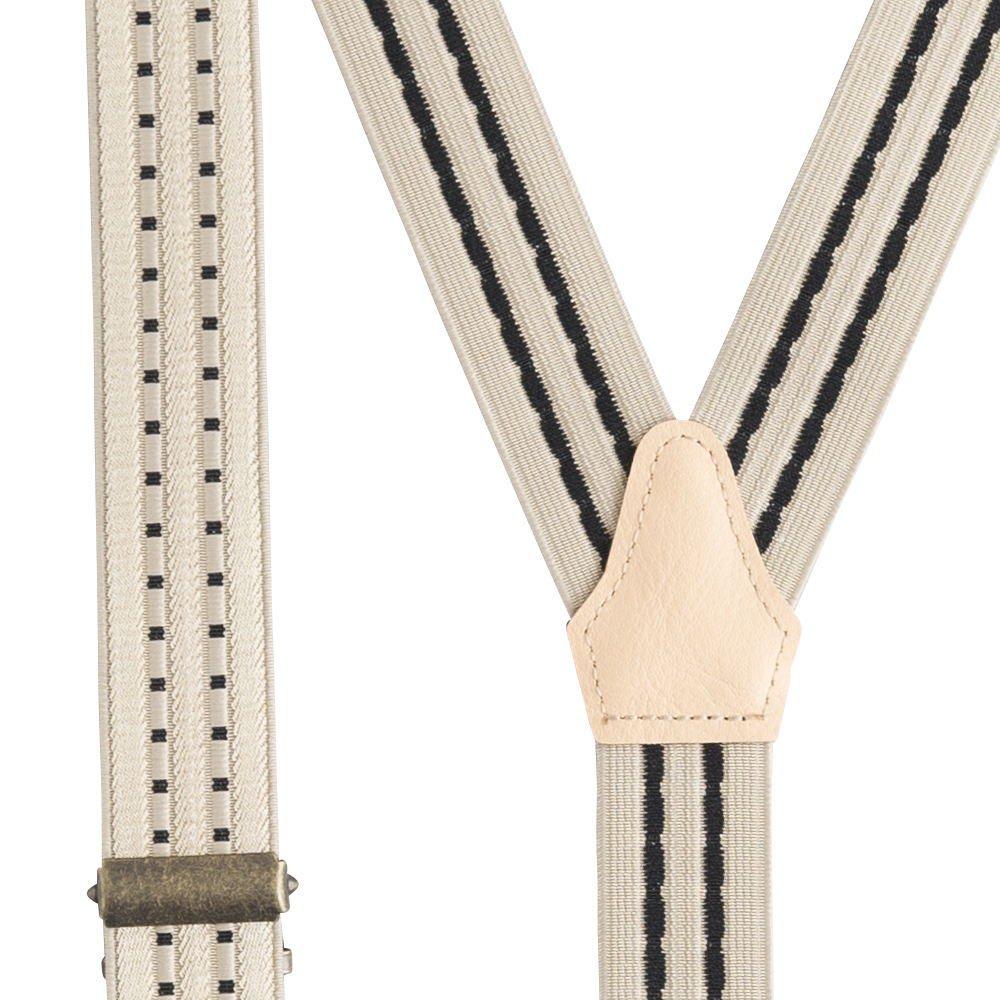 Patterned Suspenders beige / black img2