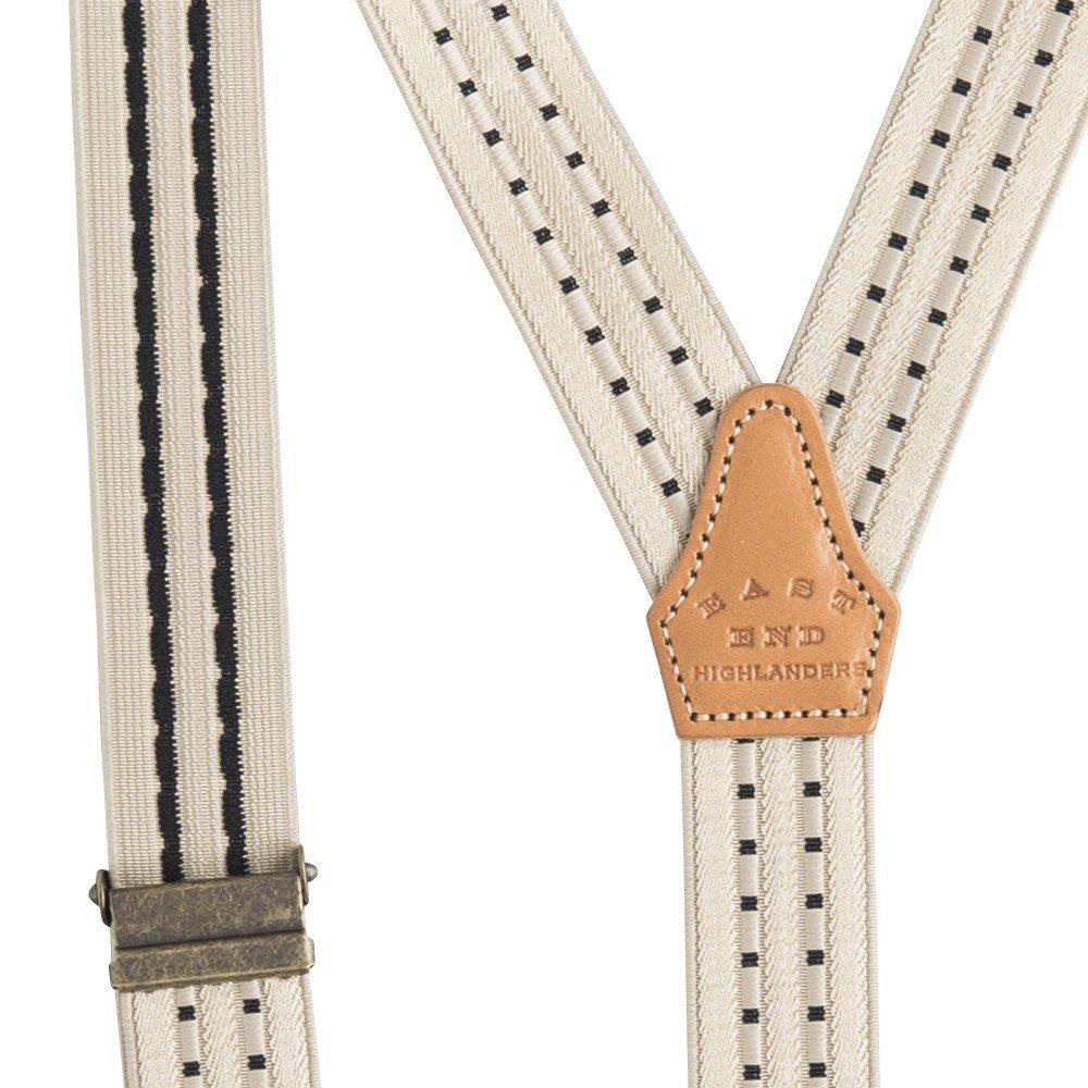 Patterned Suspenders beige / black img4