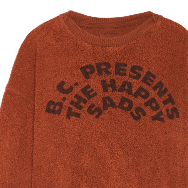 【WINTER SALE 20%OFF】2018AW No.218031 The Happysads Round neck sheep skin fleece sweatshirt img1