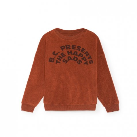 2018AW No.218031 The Happysads Round neck sheep skin fleece sweatshirt