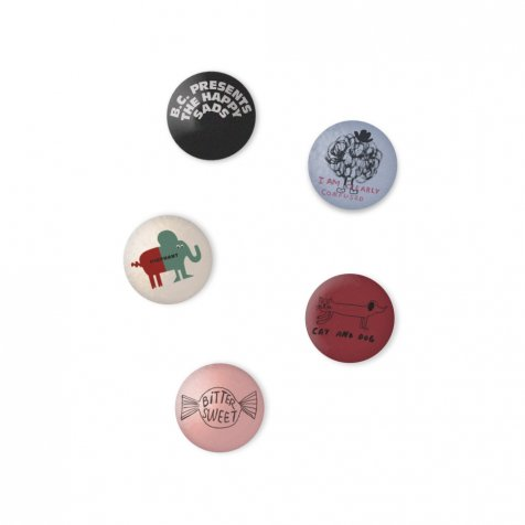 2018AW No.218271 Pack of 5 badges