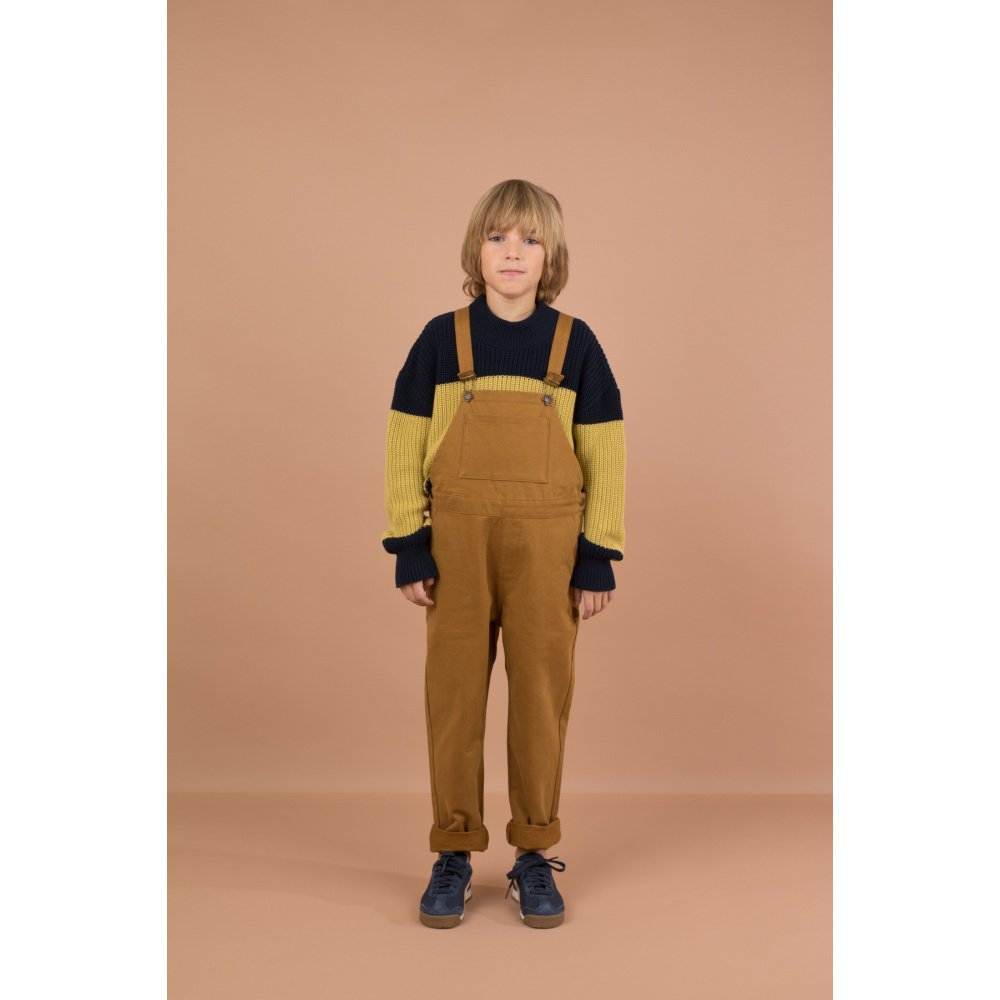 【WINTER SALE 20%OFF】No.132 solid overall dark mustard img7