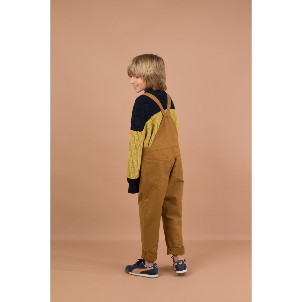 【WINTER SALE 20%OFF】No.132 solid overall dark mustard img8