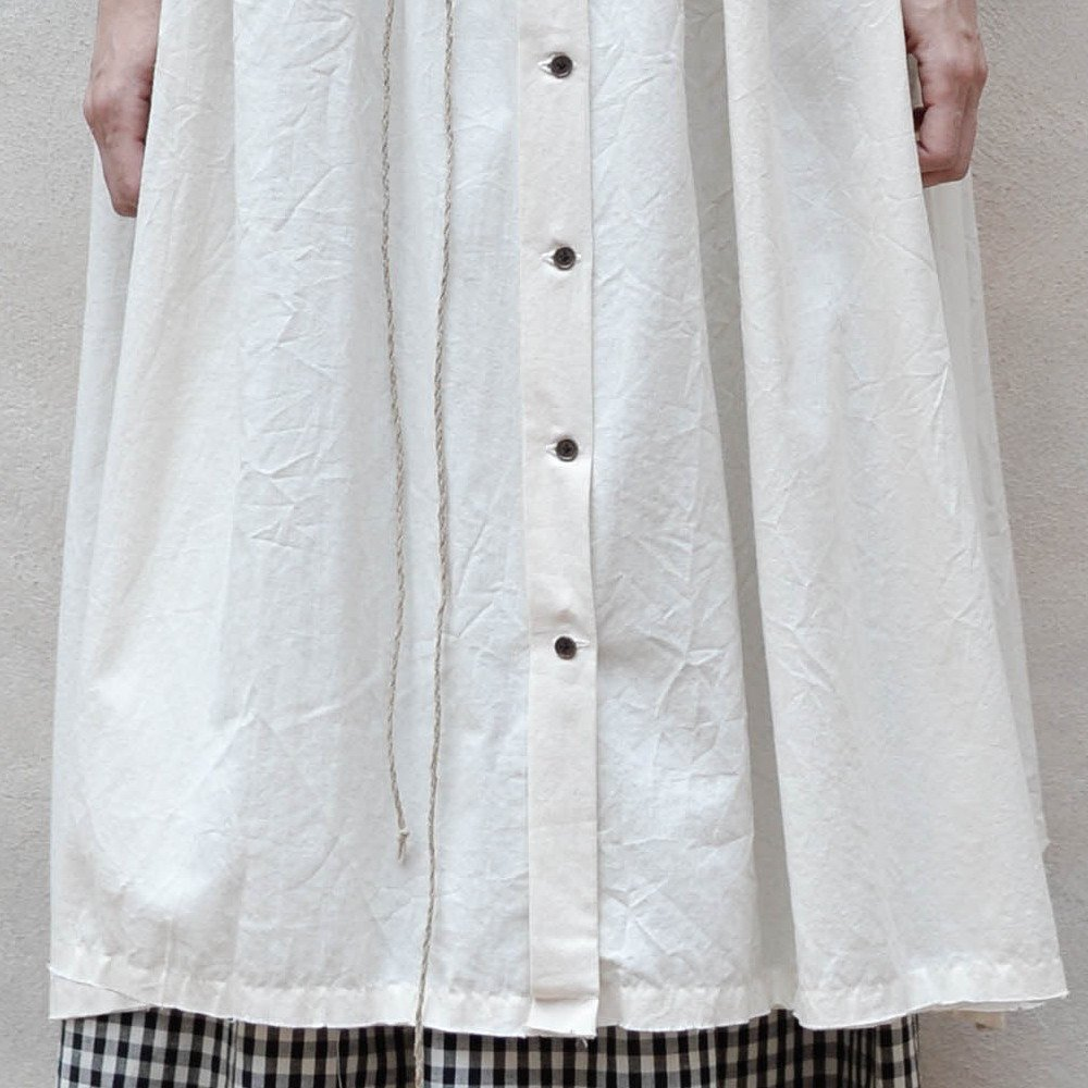 【WINTER SALE 20%OFF】Crinkled Sack Dress Cream Women img2