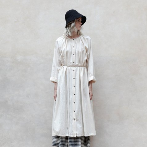 【40%OFF→50%OFF】Crinkled Sack Dress Cream Women