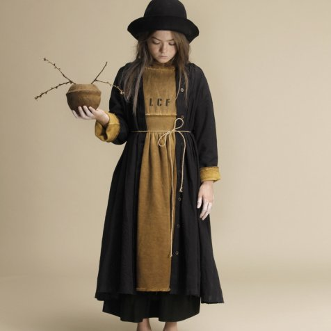 【WINTER SALE 20%OFF】Crinkled Sack Dress Black Women