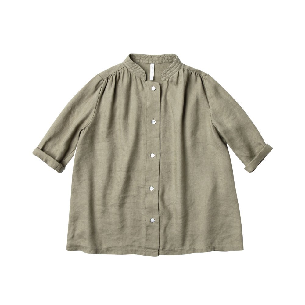 button shirt dress olive img