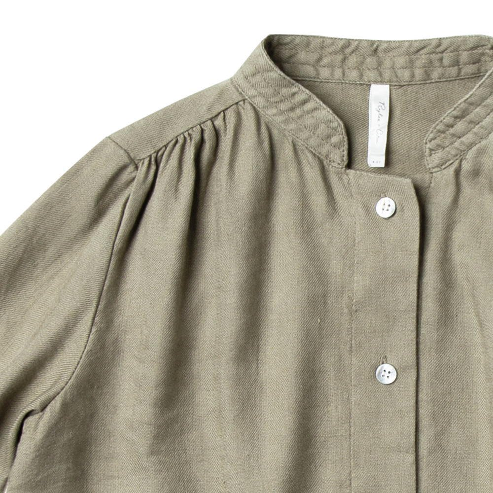 button shirt dress olive img1