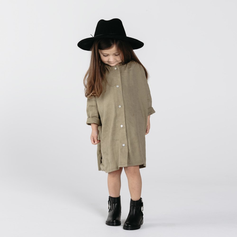 button shirt dress olive img4