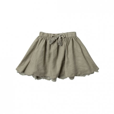 solid mini skirt olive