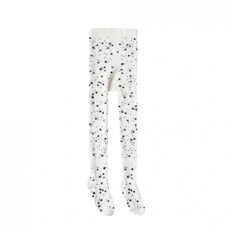 printed ribbed tights scattered stars