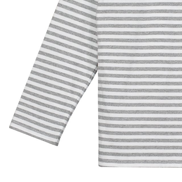 L/S Striped Tee Grey Melange / White Stripes img2