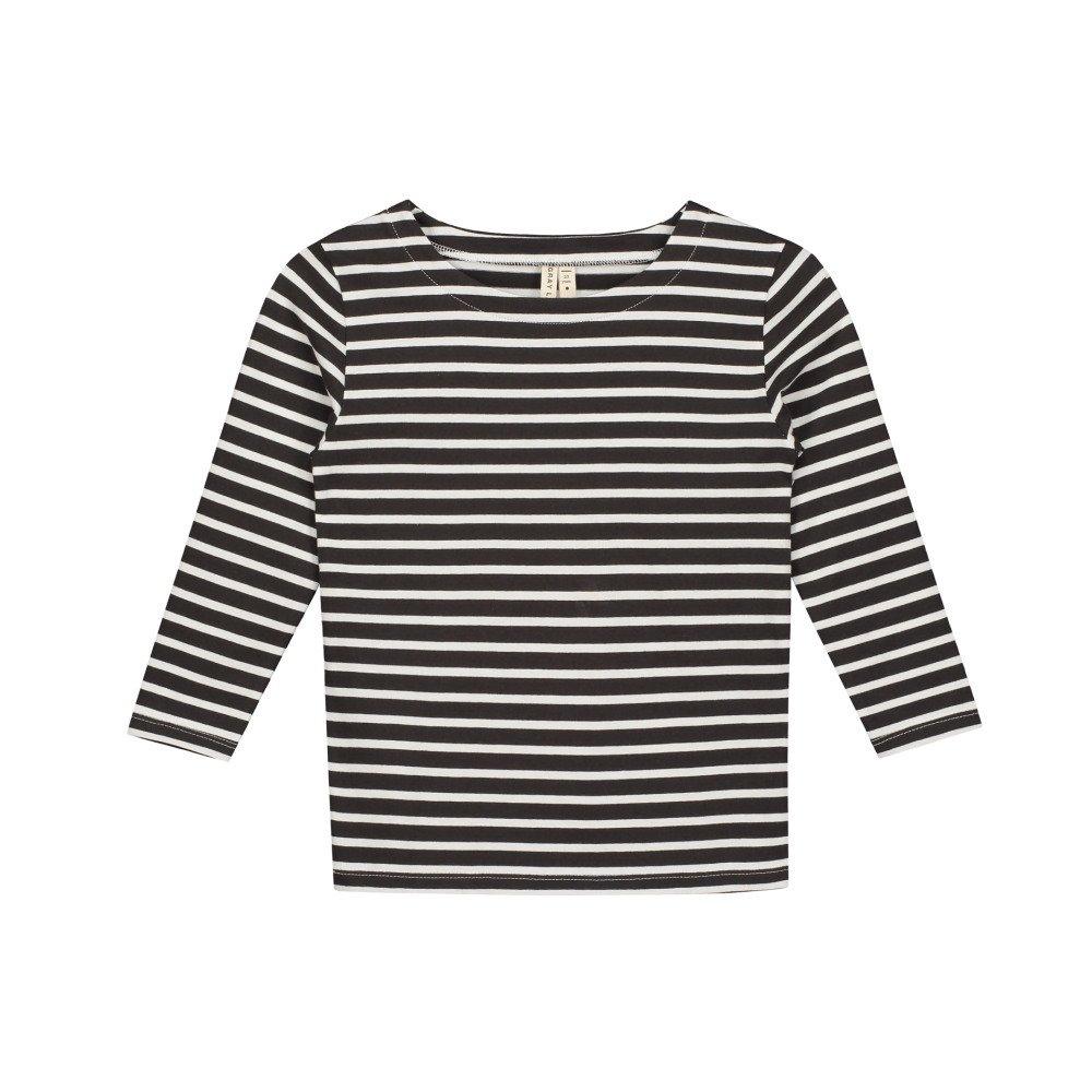 L/S Striped Tee Nearly Black / White Stripes img