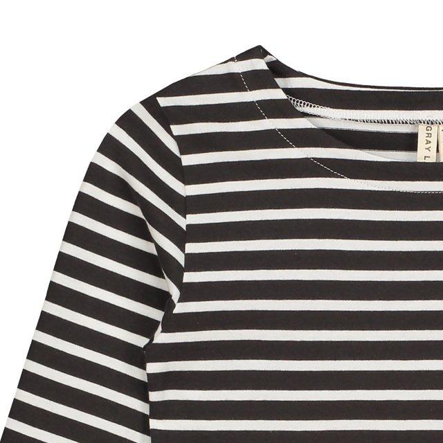 L/S Striped Tee Nearly Black / White Stripes img1