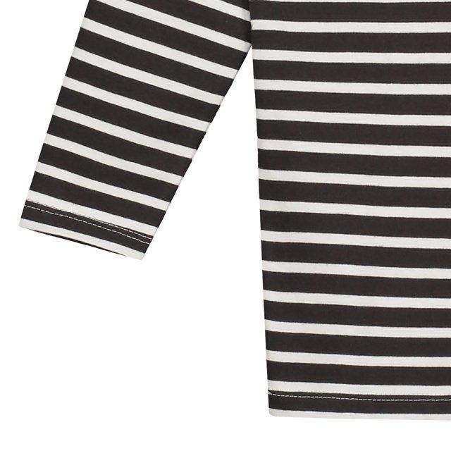 L/S Striped Tee Nearly Black / White Stripes img2