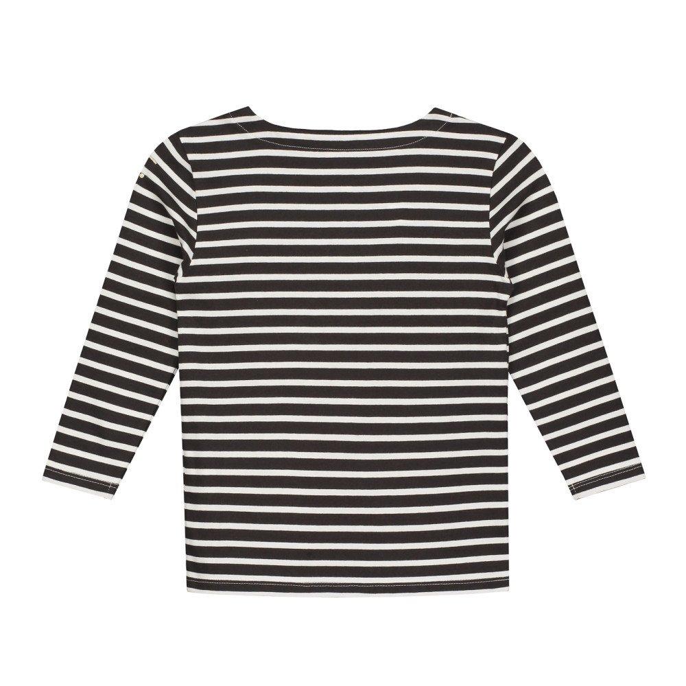 L/S Striped Tee Nearly Black / White Stripes img3