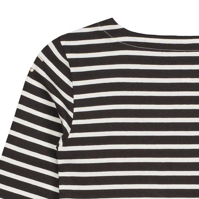 L/S Striped Tee Nearly Black / White Stripes img4