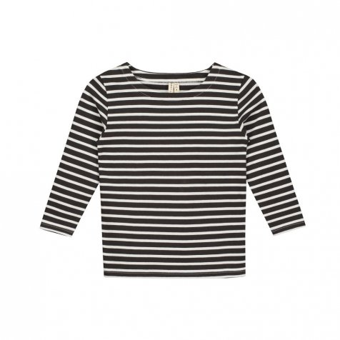L/S Striped Tee Nearly Black / White Stripes