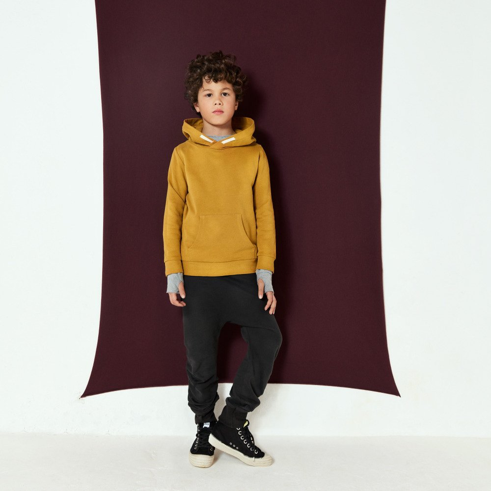 Classic Hooded Sweater Mustard img8