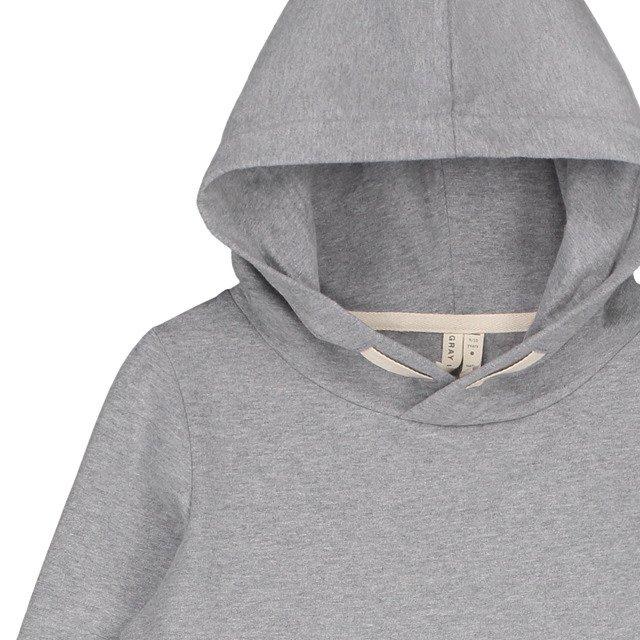 Classic Hooded Sweater Grey Melange img1