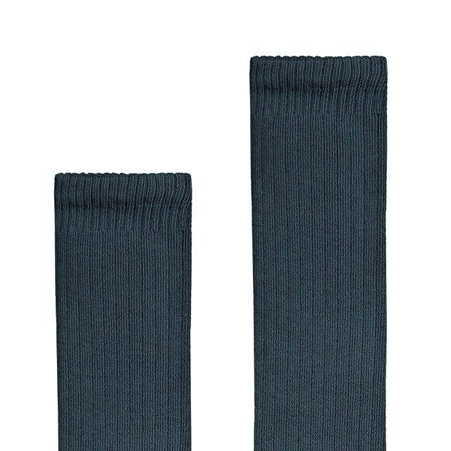 Long Ribbed Socks Blue Grey img1