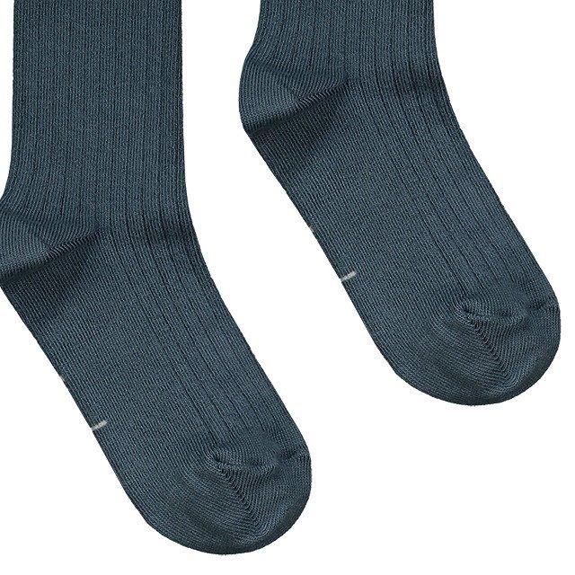 【価格改定】Long Ribbed Socks Blue Grey img2