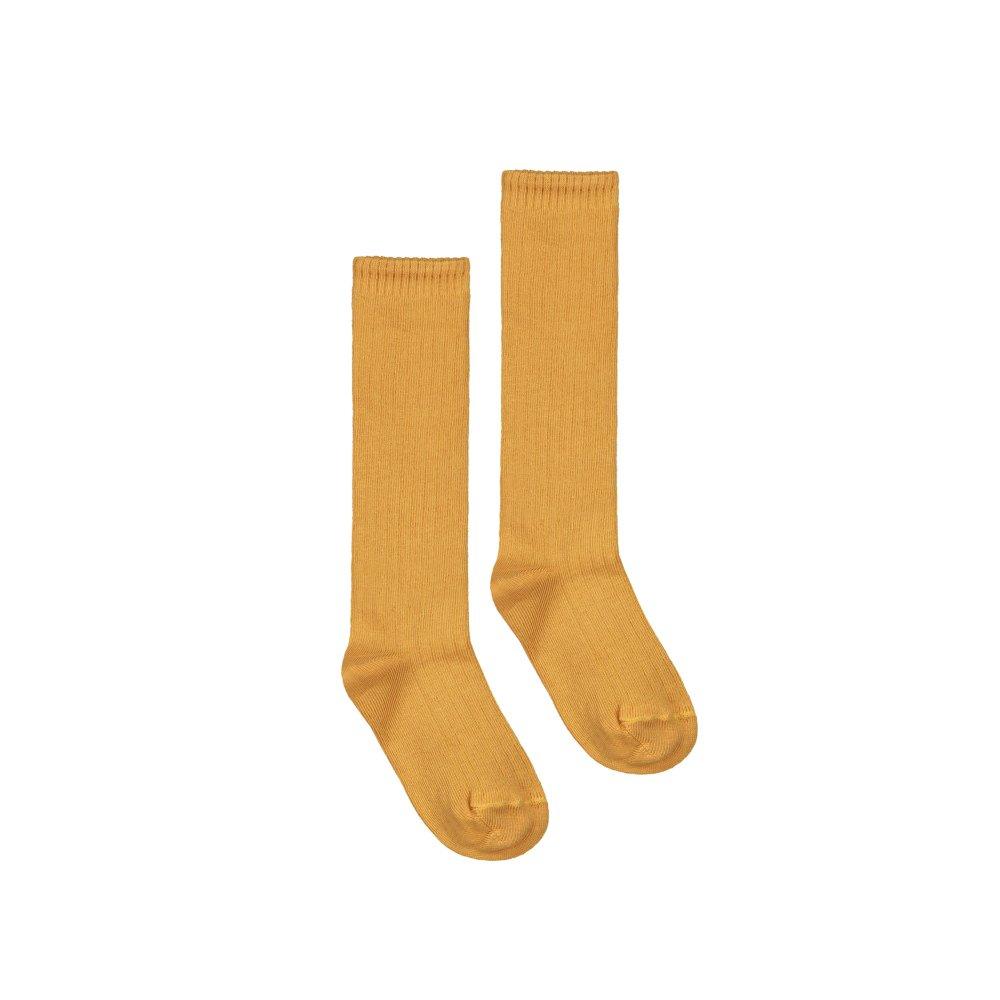 Long Ribbed Socks Mustard img